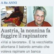 «nonnina» un corno